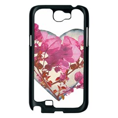 Heart Shaped with Flowers Digital Collage Samsung Galaxy Note 2 Case (Black)