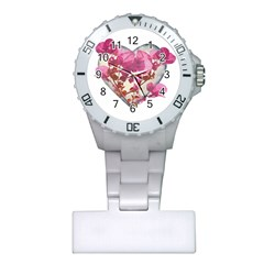 Heart Shaped with Flowers Digital Collage Nurses Watch