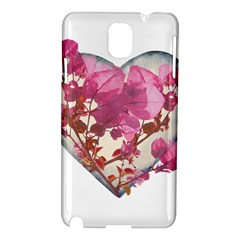 Heart Shaped With Flowers Digital Collage Samsung Galaxy Note 3 N9005 Hardshell Case