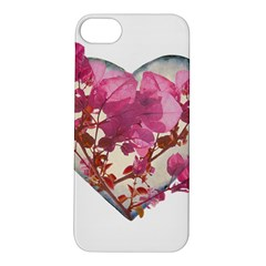Heart Shaped with Flowers Digital Collage Apple iPhone 5S Hardshell Case