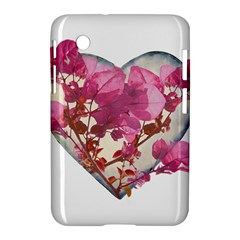 Heart Shaped With Flowers Digital Collage Samsung Galaxy Tab 2 (7 ) P3100 Hardshell Case