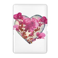 Heart Shaped with Flowers Digital Collage Samsung Galaxy Tab 2 (10.1 ) P5100 Hardshell Case