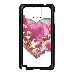 Heart Shaped with Flowers Digital Collage Samsung Galaxy Note 3 N9005 Case (Black)