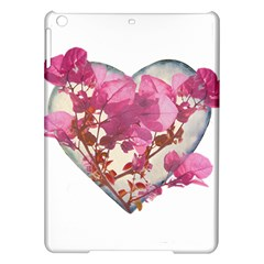 Heart Shaped With Flowers Digital Collage Apple Ipad Air Hardshell Case