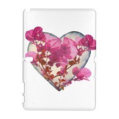 Heart Shaped With Flowers Digital Collage Samsung Galaxy Note 10 1 (p600) Hardshell Case
