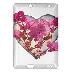 Heart Shaped with Flowers Digital Collage Kindle Fire HD (2013) Hardshell Case