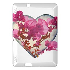 Heart Shaped With Flowers Digital Collage Kindle Fire Hdx Hardshell Case
