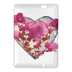 Heart Shaped With Flowers Digital Collage Kindle Fire Hdx 8 9  Hardshell Case