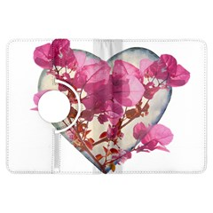 Heart Shaped with Flowers Digital Collage Kindle Fire HDX Flip 360 Case