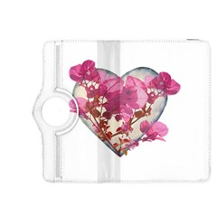 Heart Shaped with Flowers Digital Collage Kindle Fire HDX 8.9  Flip 360 Case