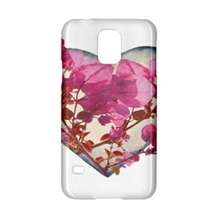 Heart Shaped With Flowers Digital Collage Samsung Galaxy S5 Hardshell Case