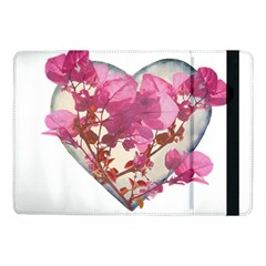 Heart Shaped with Flowers Digital Collage Samsung Galaxy Tab Pro 10.1  Flip Case