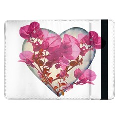 Heart Shaped with Flowers Digital Collage Samsung Galaxy Tab Pro 12.2  Flip Case