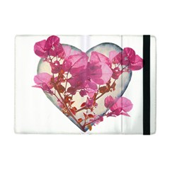 Heart Shaped With Flowers Digital Collage Apple Ipad Mini 2 Flip Case