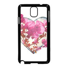 Heart Shaped with Flowers Digital Collage Samsung Galaxy Note 3 Neo Hardshell Case (Black)