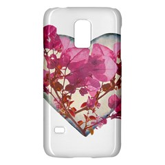 Heart Shaped with Flowers Digital Collage Samsung Galaxy S5 Mini Hardshell Case