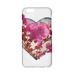 Heart Shaped With Flowers Digital Collage Apple Iphone 6 Hardshell Case