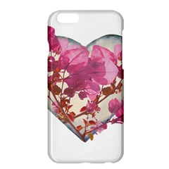 Heart Shaped With Flowers Digital Collage Apple Iphone 6 Plus Hardshell Case
