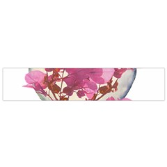 Heart Shaped with Flowers Digital Collage Flano Scarf (Small)