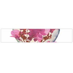 Heart Shaped With Flowers Digital Collage Flano Scarf (large)