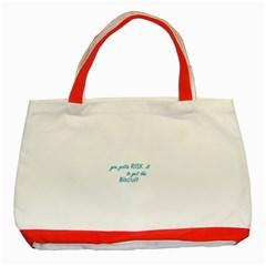 risk it Classic Tote Bag (Red)