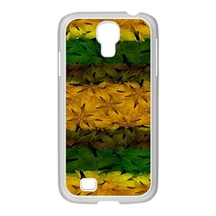 Tribal Floral Pattern Samsung Galaxy S4 I9500/ I9505 Case (white)