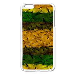 Tribal Floral Pattern Apple iPhone 6 Plus Enamel White Case