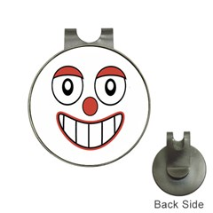 Happy Clown Cartoon Drawing Hat Clip with Golf Ball Marker