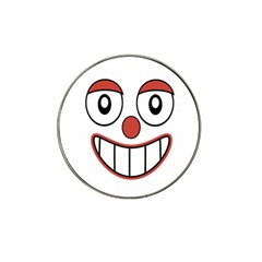 Happy Clown Cartoon Drawing Golf Ball Marker (for Hat Clip)