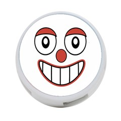 Happy Clown Cartoon Drawing 4 Port Usb Hub (two Sides)