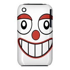 Happy Clown Cartoon Drawing Apple iPhone 3G/3GS Hardshell Case (PC+Silicone)