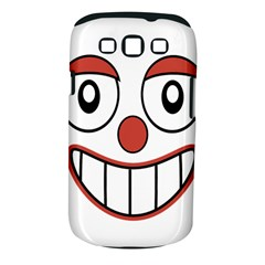 Happy Clown Cartoon Drawing Samsung Galaxy S III Classic Hardshell Case (PC+Silicone)