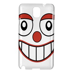 Happy Clown Cartoon Drawing Samsung Galaxy Note 3 N9005 Hardshell Case