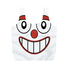 Happy Clown Cartoon Drawing Reusable Bag (M)