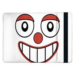 Happy Clown Cartoon Drawing Samsung Galaxy Tab Pro 12 2  Flip Case