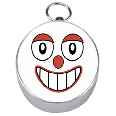 Happy Clown Cartoon Drawing Silver Compass