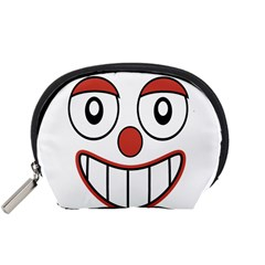 Happy Clown Cartoon Drawing Accessory Pouch (Small)