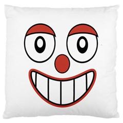 Happy Clown Cartoon Drawing Standard Flano Cushion Case (one Side)