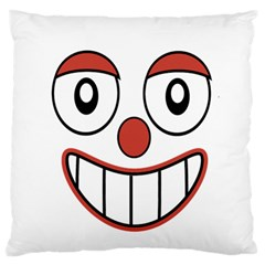 Happy Clown Cartoon Drawing Large Flano Cushion Case (Two Sides)