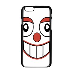 Happy Clown Cartoon Drawing Apple iPhone 6 Black Enamel Case