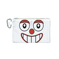 Happy Clown Cartoon Drawing Canvas Cosmetic Bag (Small)
