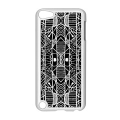 Black and White Tribal Geometric Pattern Print Apple iPod Touch 5 Case (White)