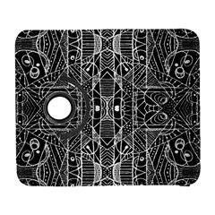Black And White Tribal Geometric Pattern Print Samsung Galaxy S  Iii Flip 360 Case