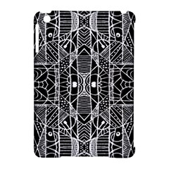 Black And White Tribal Geometric Pattern Print Apple Ipad Mini Hardshell Case (compatible With Smart Cover)