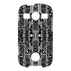 Black and White Tribal Geometric Pattern Print Samsung Galaxy S7710 Xcover 2 Hardshell Case