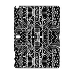 Black and White Tribal Geometric Pattern Print Samsung Galaxy Note 10.1 (P600) Hardshell Case