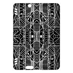 Black and White Tribal Geometric Pattern Print Kindle Fire HDX Hardshell Case