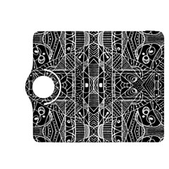 Black and White Tribal Geometric Pattern Print Kindle Fire HDX 8.9  Flip 360 Case