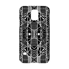Black and White Tribal Geometric Pattern Print Samsung Galaxy S5 Hardshell Case