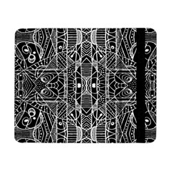 Black And White Tribal Geometric Pattern Print Samsung Galaxy Tab Pro 8 4  Flip Case